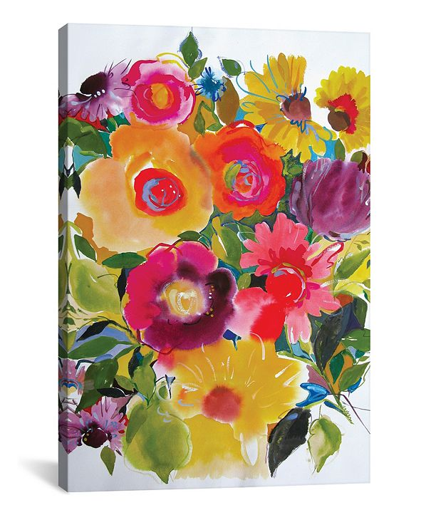 "iCanvas ""Purple Zinnias"" By Kim Parker Gallery-Wrapped Canvas Print - 40"" x 26"" x 0.75"""