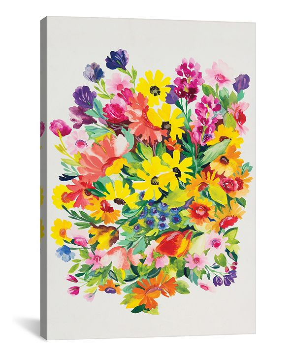 """iCanvas """"Snapdragons and Zinnias"""" By Kim Parker Gallery-Wrapped Canvas Print - 60"""" x 40"""" x 1.5"""""""