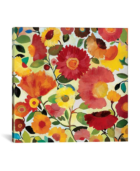 """iCanvas """"Garden Of Love"""" By Kim Parker Gallery-Wrapped Canvas Print - 18"""" x 18"""" x 0.75"""""""