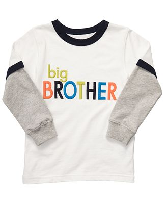 Carter 39 s kids t shirt little boys big brother layered tee for Big brother shirts for toddlers carters