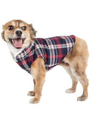 'Puddler' Classical Plaided Insulated Dog Coat Jacket