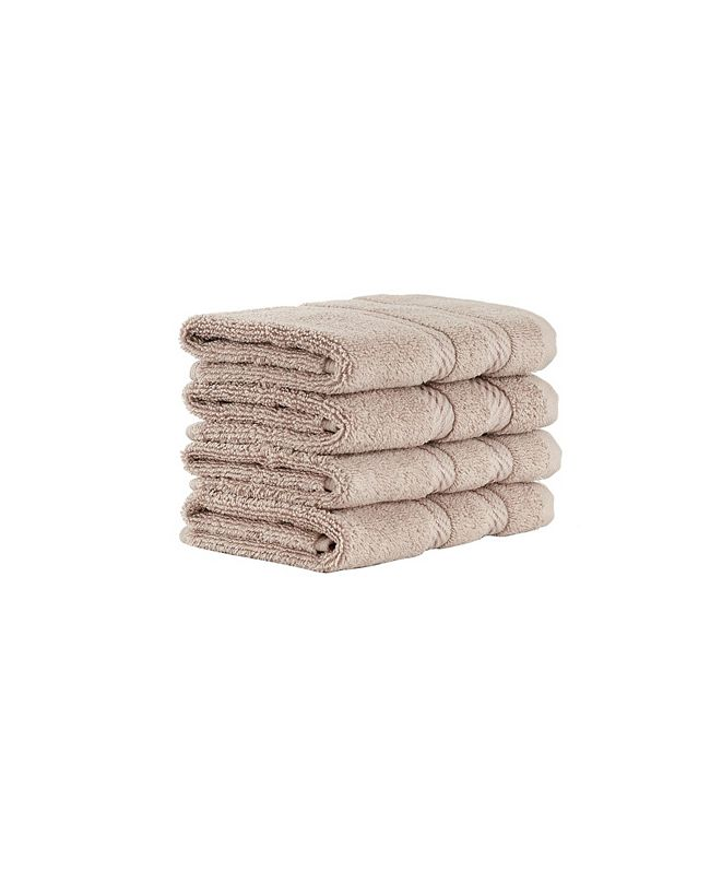 Makroteks Classic Turkish Towels Antalya 4 Piece Luxury Turkish Cotton Washcloth Towel Set