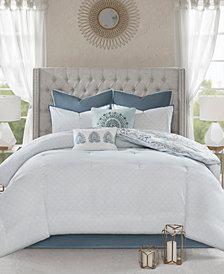 Madison Park Isla King 8 Piece Cotton Printed Reversible Comforter Set