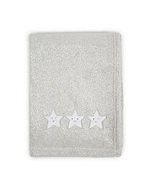 Tadpoles Star Applique Plush Fleece Baby Blanket