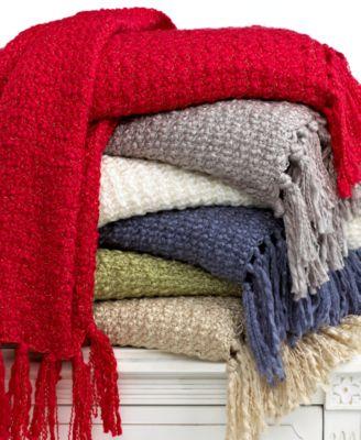 Martha Stewart Collection Blankets, Textured Yarn Throw