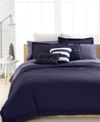 Lacoste Solid Brushed Twill King Duvet Cover Set