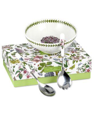 Portmeirion Serveware, Botanic Garden 3 Piece Salad Set