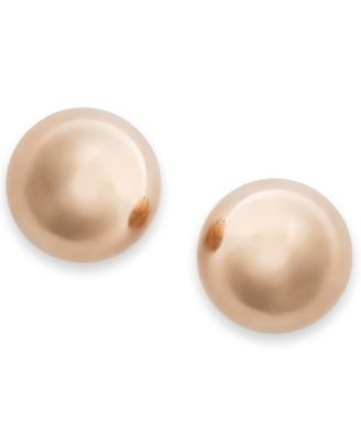 Gold Ball Stud Earrings (6mm) in 14k Yellow, White or Rose Gold
