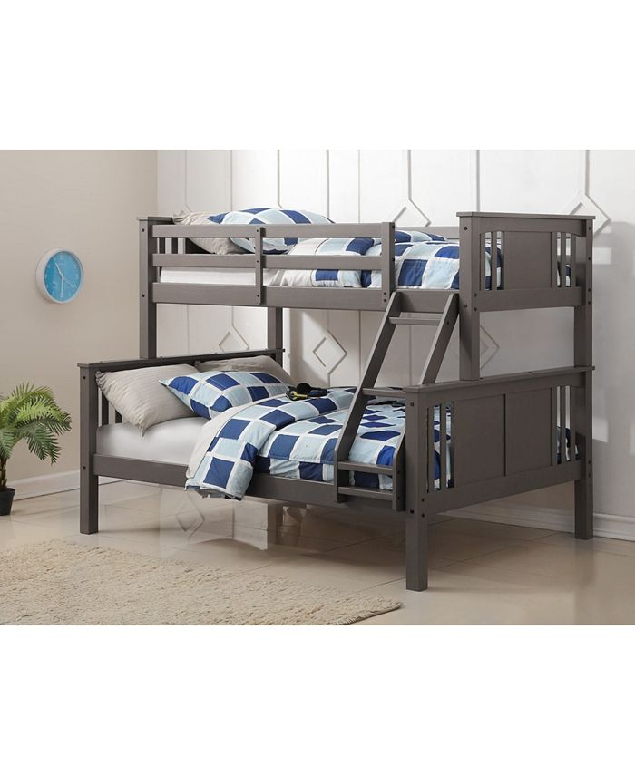 Donco Kids Twin Over Full Princeton Bunk Bed Reviews Furniture Macy S