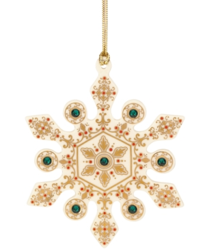 Lenox Christmas Ornament, China Jewels Emerald Snowflake
