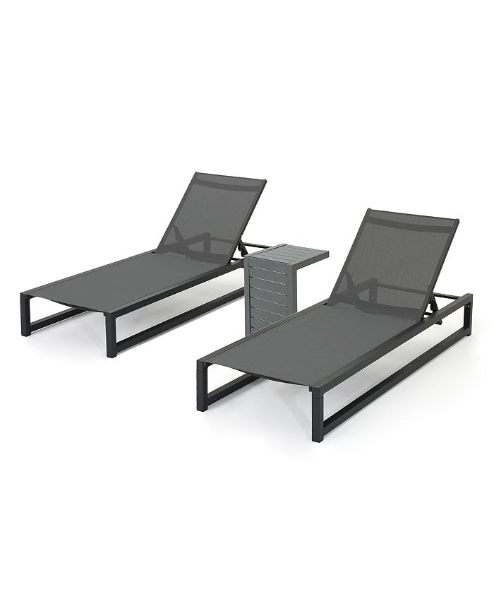 Noble House - Modesta Outdoor Chaise Lounge, Quick Ship (Set of 2)