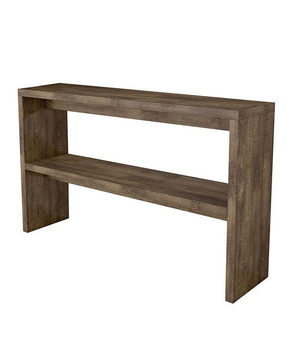 Amazonia Mid-Century 2-Shelf Wood Console Table