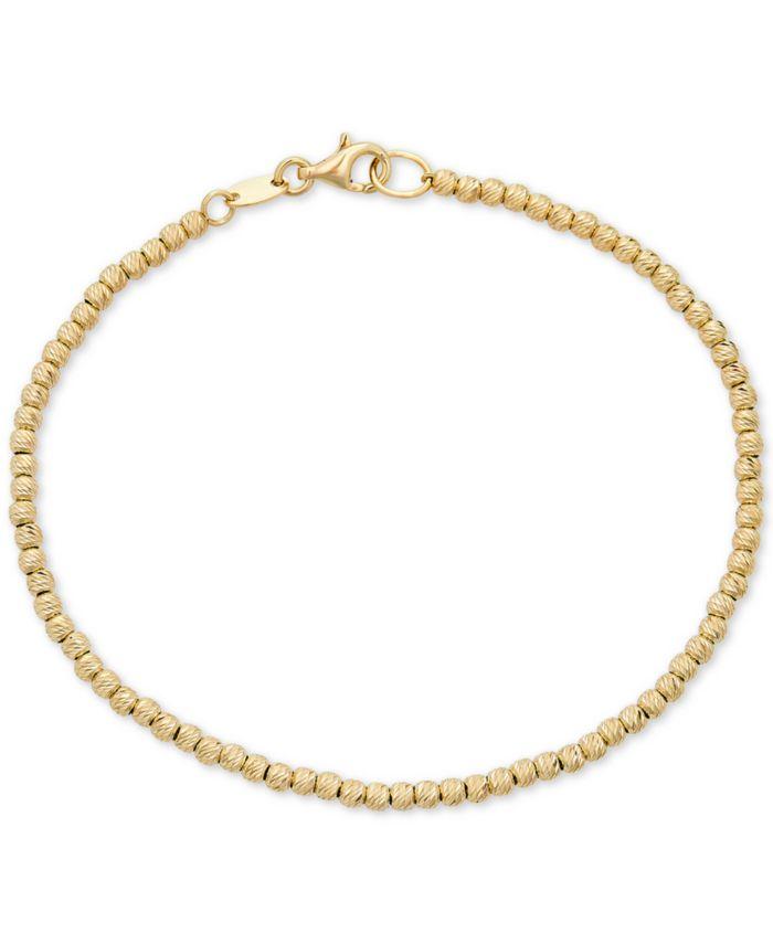 Italian Gold Beaded Bracelet in 14k Gold & Reviews - Bracelets - Jewelry & Watches - Macy's