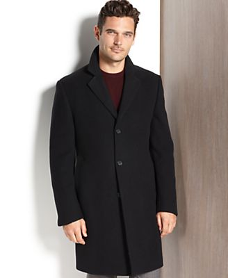 DKNY Coat, Beacon Cashmere Blend Overcoat Slim Fit