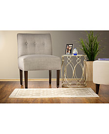 MJL Furniture Designs Samantha Button Tufted Upholstered Accent Chair