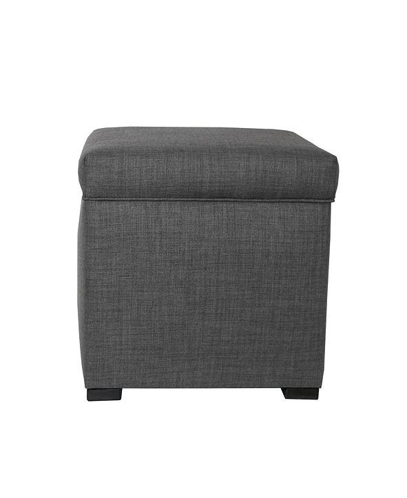 MJL Furniture Designs Tami Button Tufted Upholstered Storage Ottoman