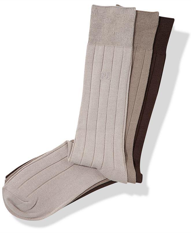 Perry Ellis Portfolio Perry Ellis Men's 3-Pk. Rayon Ribbed Dress Socks