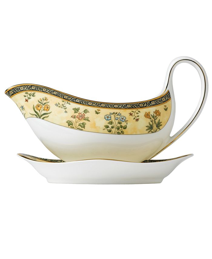 "Wedgwood - ""India"" Gravy Boat"