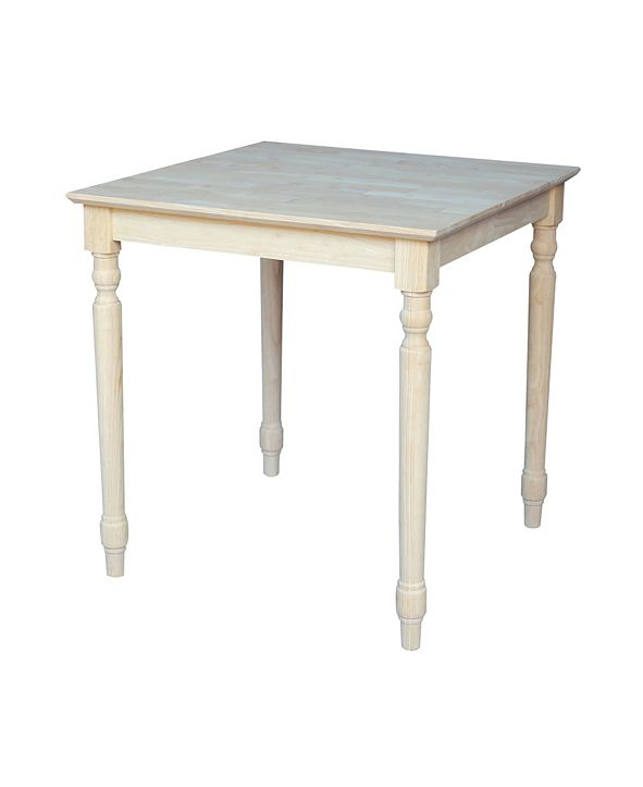 International Concepts Solid Wood Top Table - Turned Legs