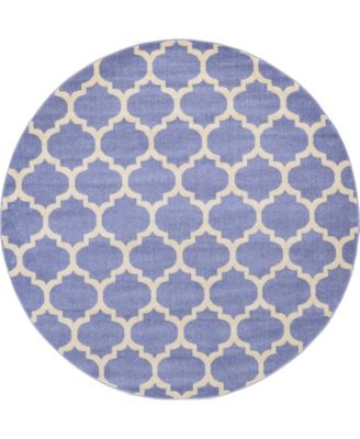Arbor Arb1 Light Blue 8' x 8' Round Area Rug