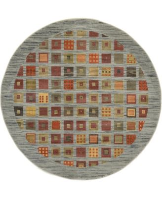 Ojas Oja6 Light Blue 6' x 6' Round Area Rug
