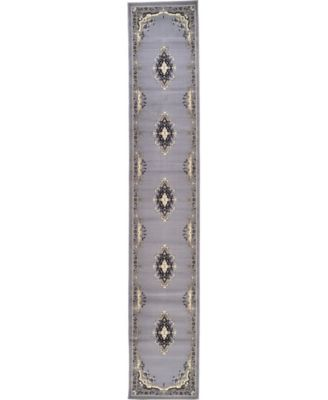 "Birsu Bir1 Gray 3' x 16' 5"" Runner Area Rug"