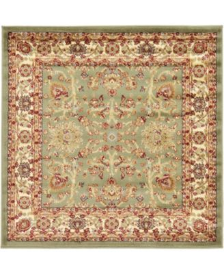 Passage Psg8 Light Green 4' x 4' Square Area Rug
