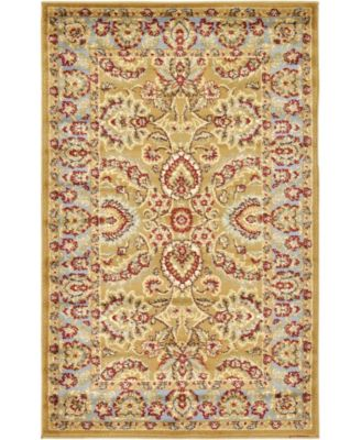 "Passage Psg9 Dark Yellow 3' 3"" x 5' 3"" Area Rug"