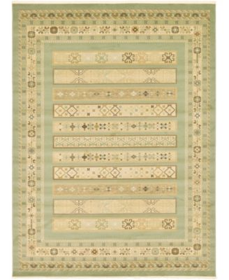 Ojas Oja4 Light Green 9' x 12' Area Rug