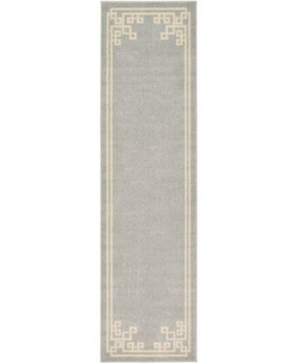 "Anzu Anz3 Gray 2' 7"" x 10' Runner Area Rug"