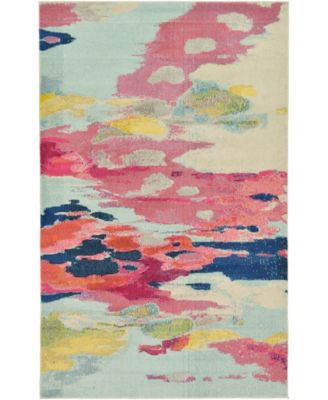 Newwolf New4 Pink 5' x 8' Area Rug