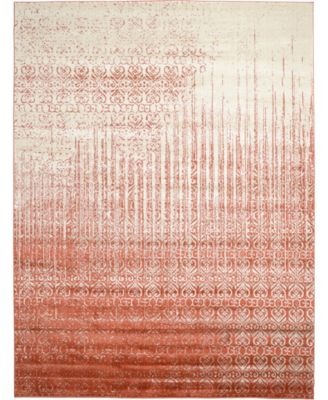 Lyon Lyo2 Red 9' x 12' Area Rug