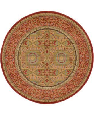 Wilder Wld6 Red 8' x 8' Round Area Rug