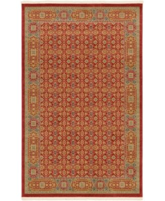 Wilder Wld7 Red 5' x 8' Area Rug