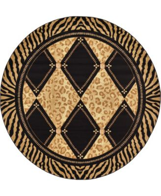 Maasai Mss6 Light Brown 8' x 8' Round Area Rug
