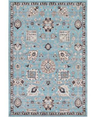 Wisdom Wis1 Light Blue 4' x 6' Area Rug