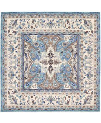 """Wisdom Wis2 Light Blue 8' 4"""" x 8' 4"""" Square Area Rug"""