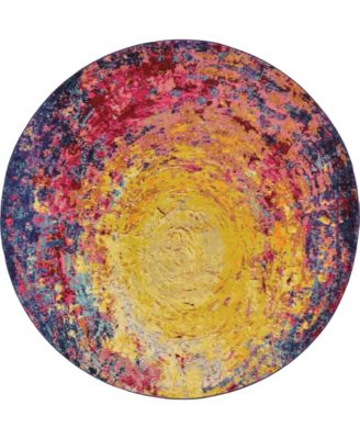 Newwolf New3 Multi 8' x 8' Round Area Rug