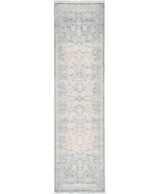 """Norston Nor3 Blue 2' 7"""" x 10' Runner Area Rug"""