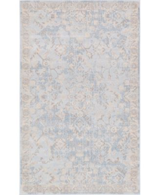 "Caan Can7 Light Blue 3' 3"" x 5' 3"" Area Rug"