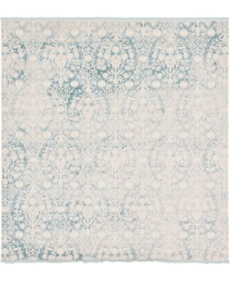 Norston Nor5 Light Blue 8' x 8' Square Area Rug