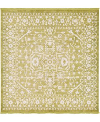Norston Nor1 Light Green 8' x 8' Square Area Rug