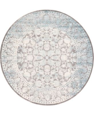 Norston Nor3 Blue 8' x 8' Round Area Rug