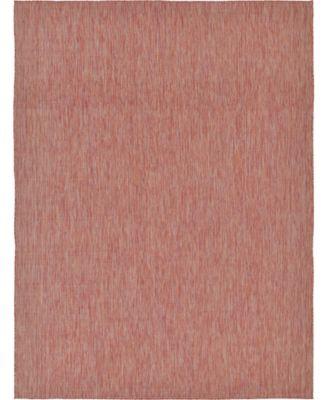 Pashio Pas6 Rust Red 9' x 12' Area Rug