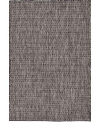 Pashio Pas6 Black 4' x 6' Area Rug