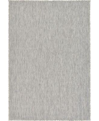 Pashio Pas6 Light Gray 4' x 6' Area Rug