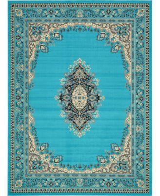 "Birsu Bir1 Turquoise 9' 10"" x 13' Area Rug"