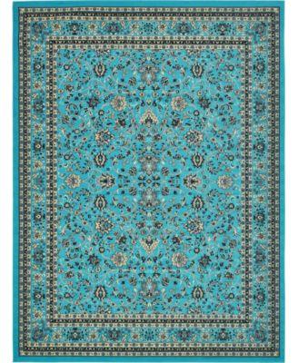 "Arnav Arn1 Turquoise 9' 10"" x 13' Area Rug"