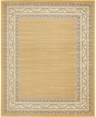 Axbridge Axb1 Yellow 8' x 10' Area Rug