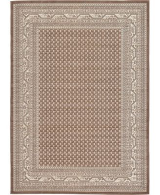 Axbridge Axb1 Brown 7' x 10' Area Rug